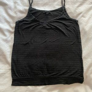 Express black tank + silver stripes size medium